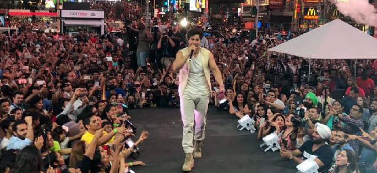 Varun Dhawan makes Times Square dance to Tamma Tamma