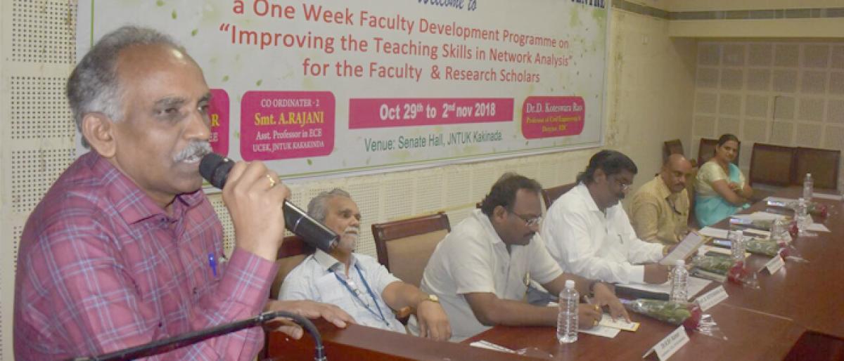 Workshop on teaching skills begins in Kakinada