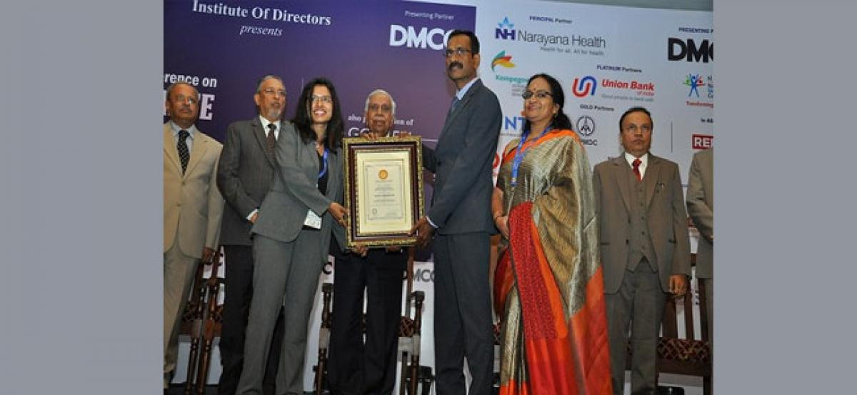TechnipFMC India wins Golden Peacock Special Commendation Award 2017