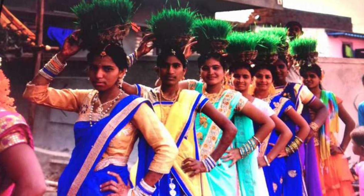Colourful start to Teej fest