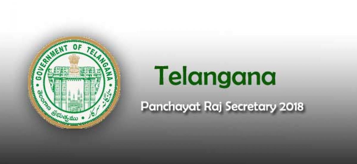 Telangana Panchayat Raj Secretary 2018: must follow instructions