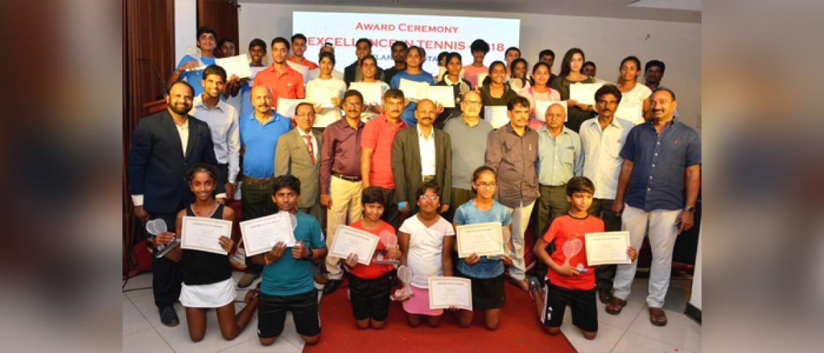 Telangana Tennis Torch Bearers Honoured