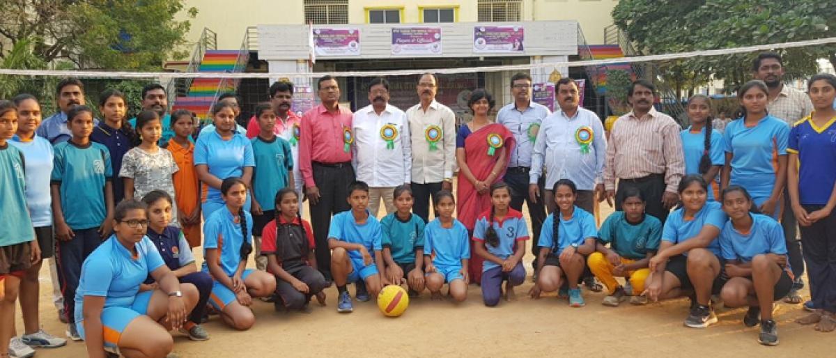 Throwball tournament organised
