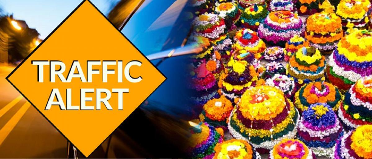 Traffic restrictions for Saddula Bathukamma in Hyderabad