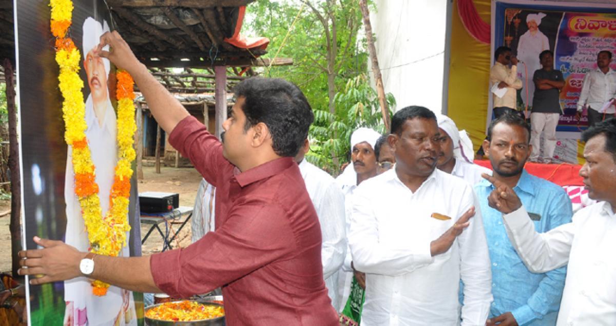 Tributes paid to Adivasi leader Sidam Shambhu