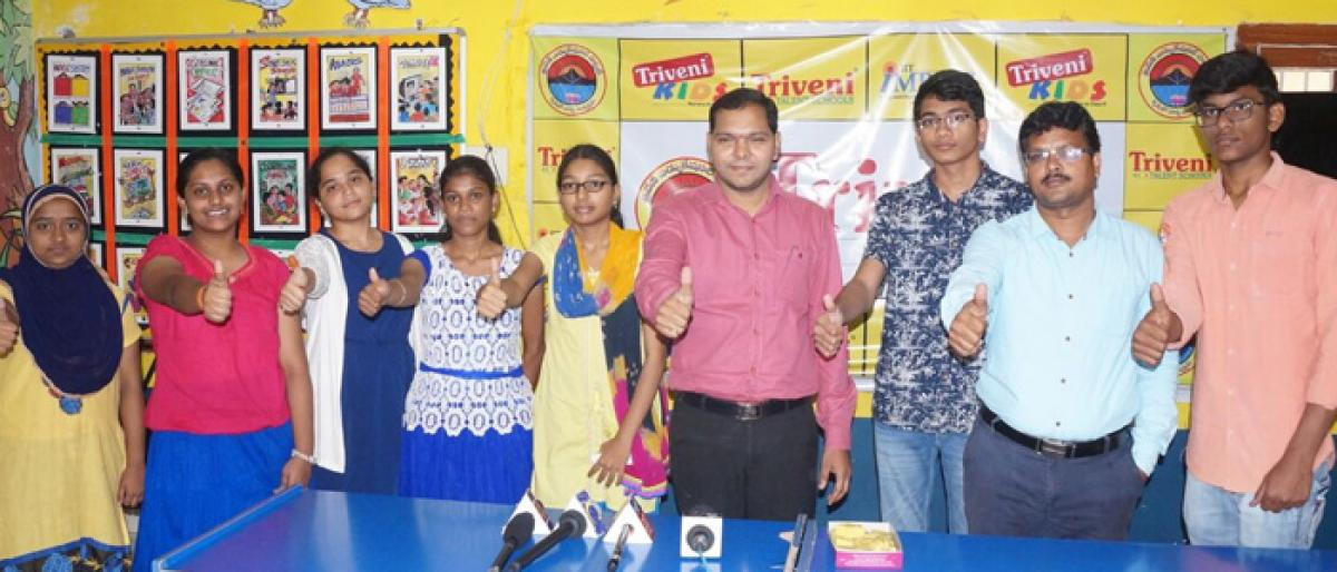 Students of Triveni School excel in TSRJC CET 2018