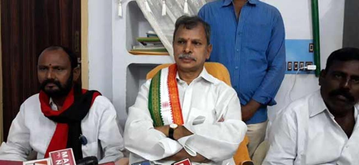 There is no wrong TDP joined hands with Congress-PCC vice president