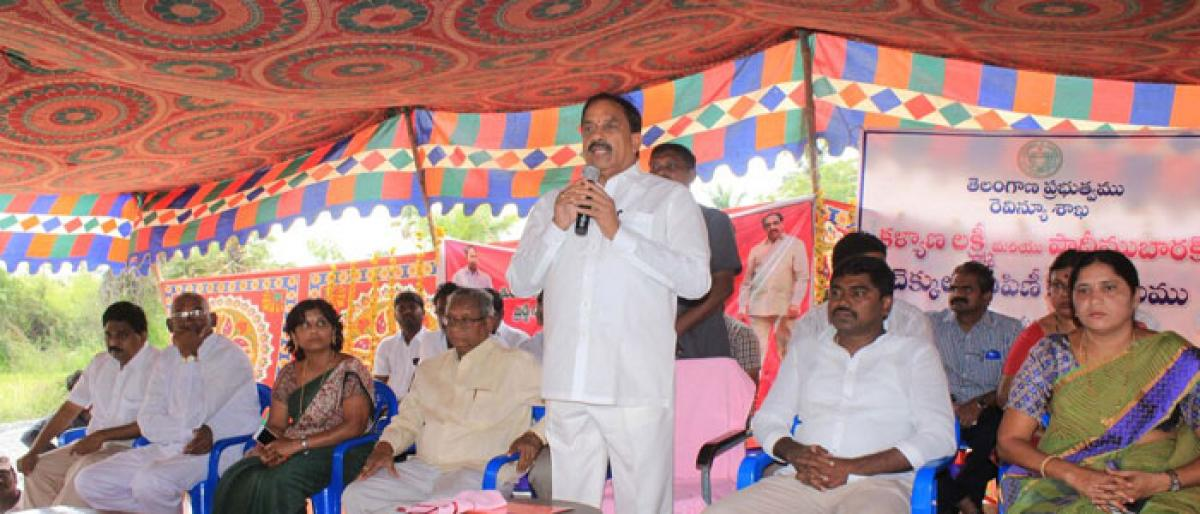TRS committed to welfare of downtrodden: Minister