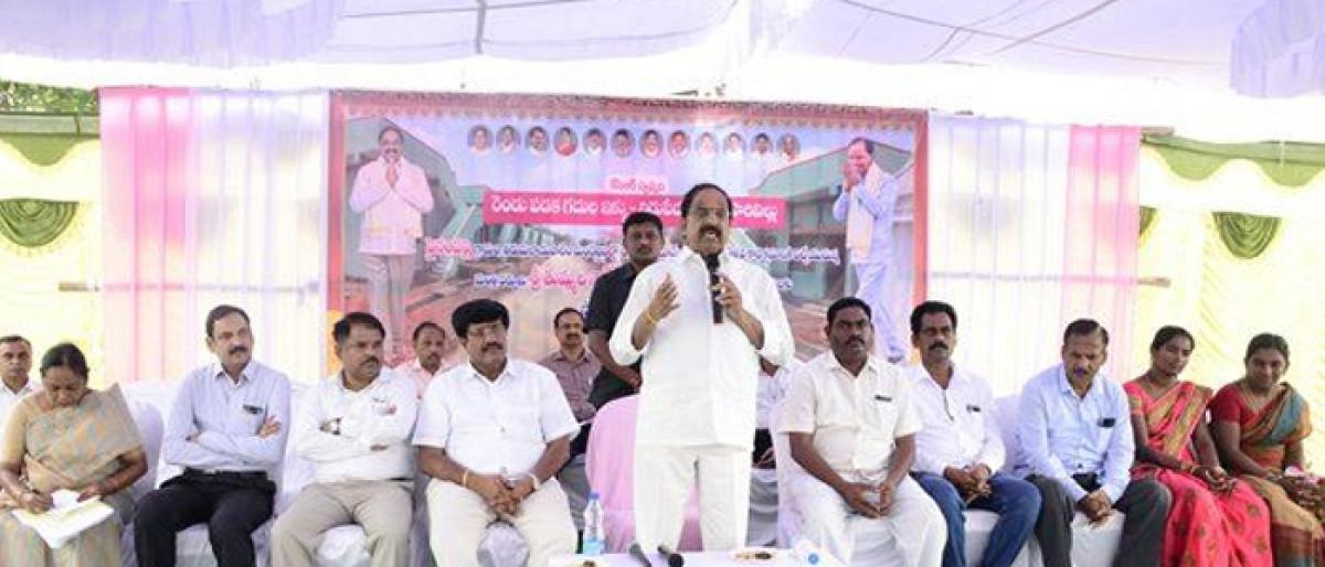 KCR Govt committed to allot 2BHK houses to homeless poor