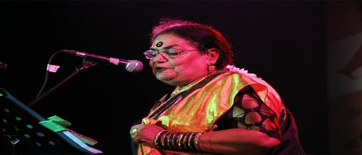 Pop icon Usha Uthup enthrals