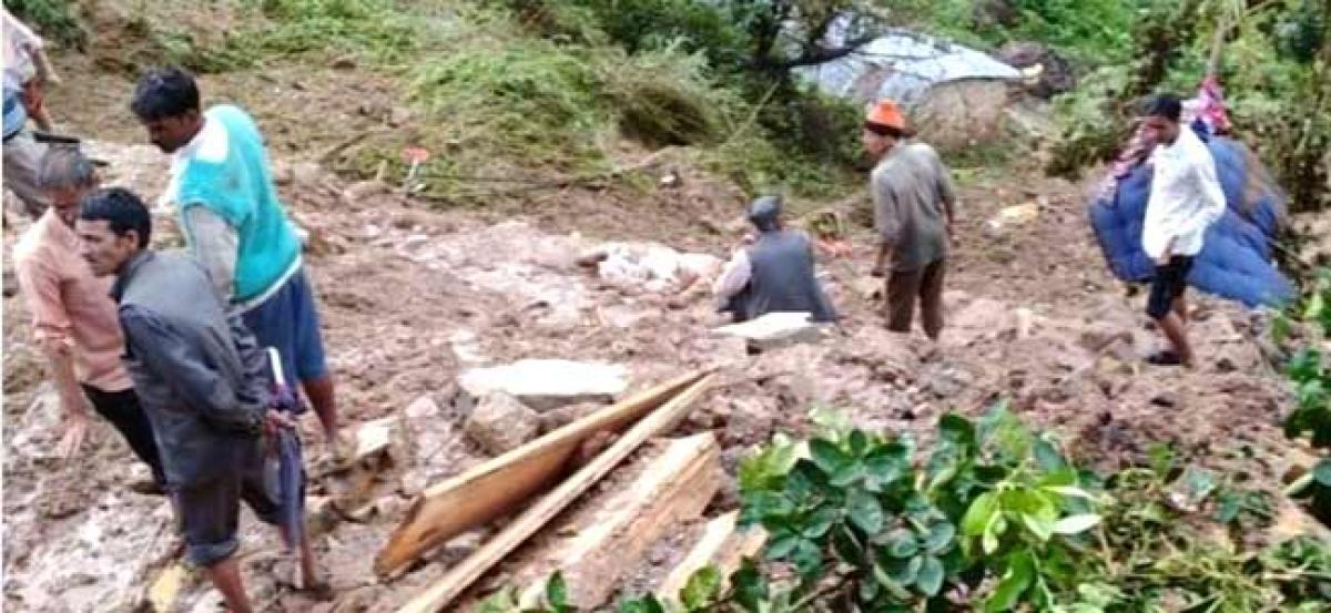 3 dead, 8 feared trapped after landslides in U'khand village