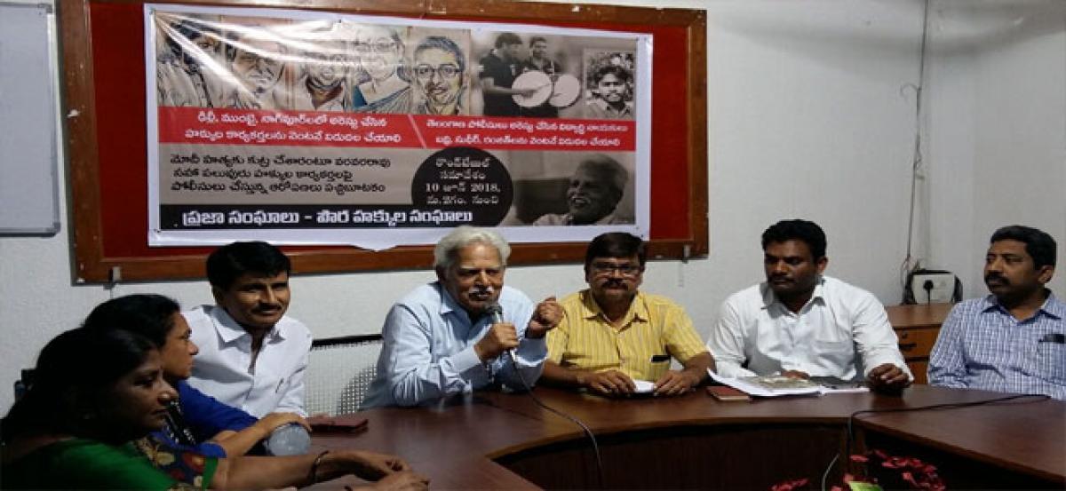 Varavara seeks release of activists