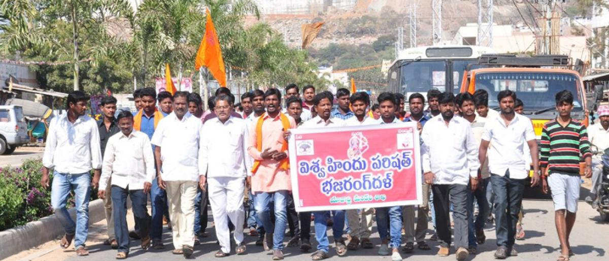 VHP takes out rally against encroachment of choultries
