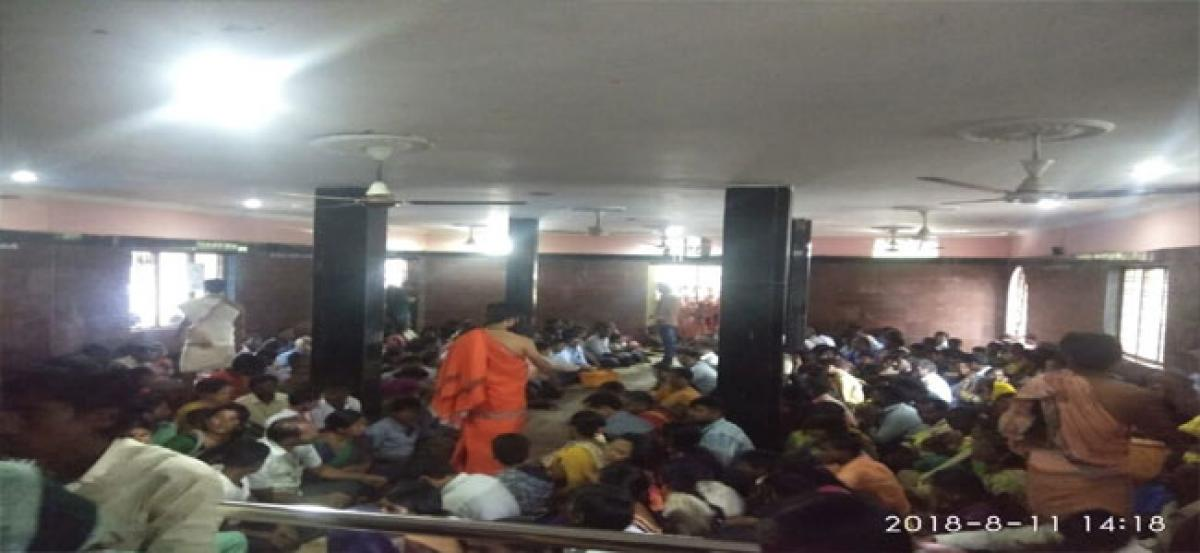 Devotees throng Saturn temple