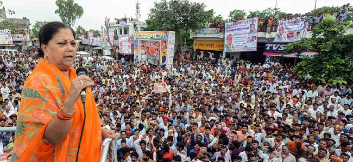 Rajasthan CM Vasundhara Raje halts campaign, leaves for Delhi to visit Vajpayee