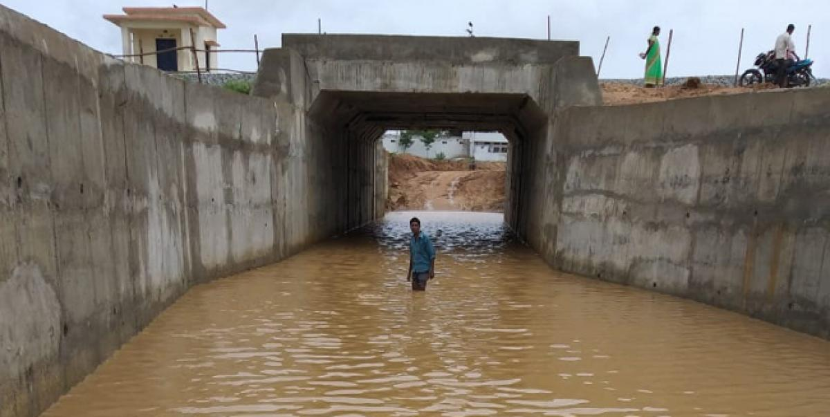 Commuters face tough time as railway underpass submerges