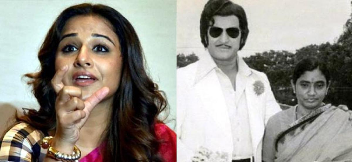Very excited about NTR biopic, says Vidya Balan