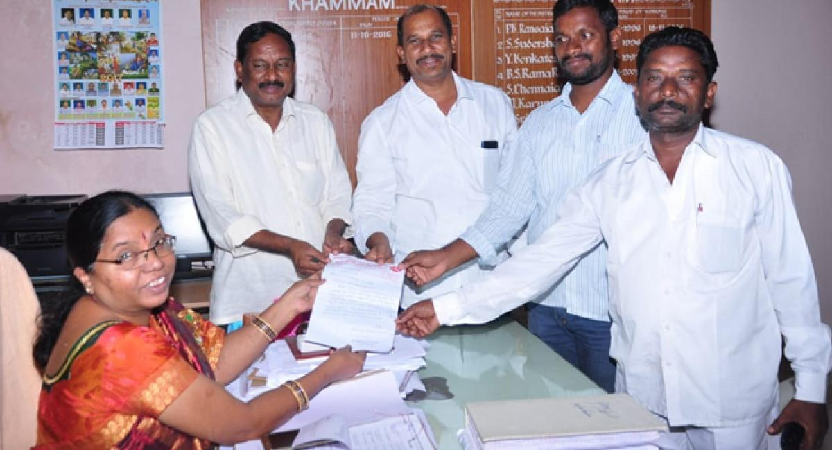 Khammam Corporation Vigilance Committee demands ration cards for all eligible