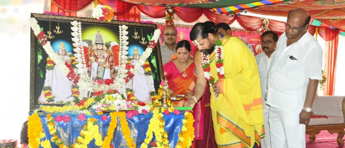 Vishnu Sahasranama Parayanam held in Khammam