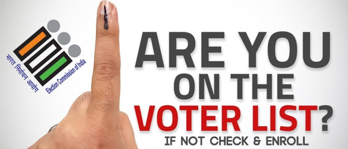 Check and enroll name in voter list at special voters campaign day in Telangana