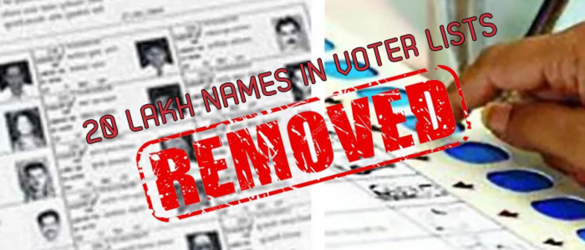 Congress worries over deletion of 20 Lakh names in voter lists