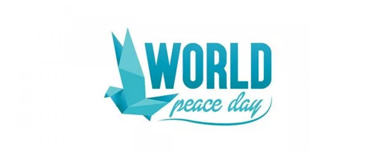 Rally for world peace today