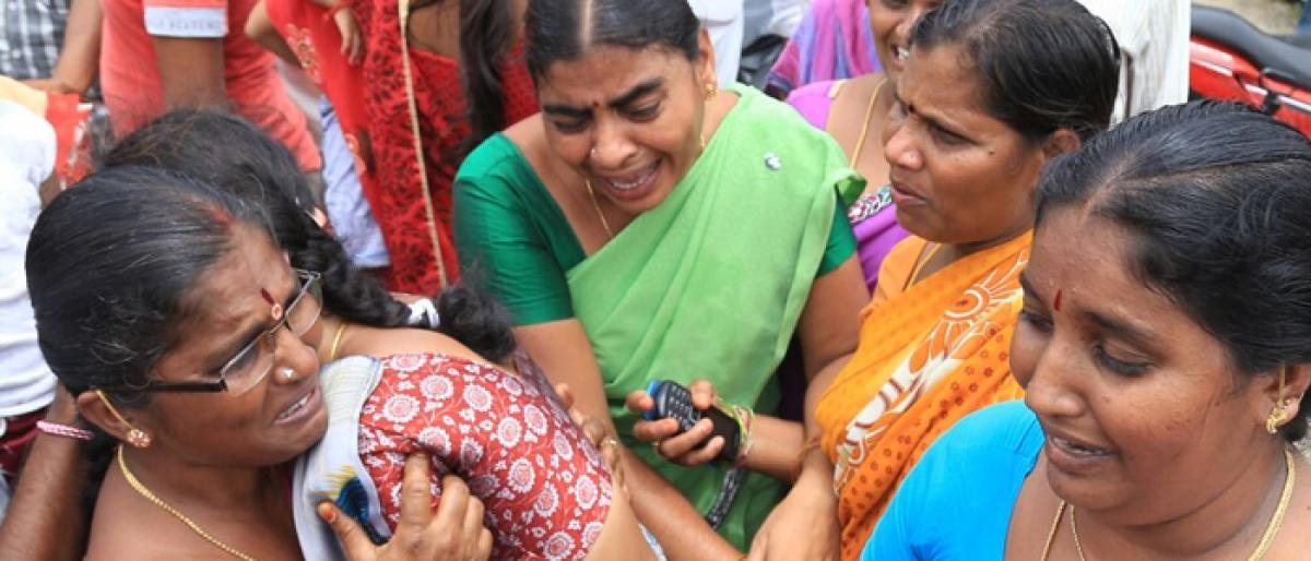 12 die in Warangal firecracker blast