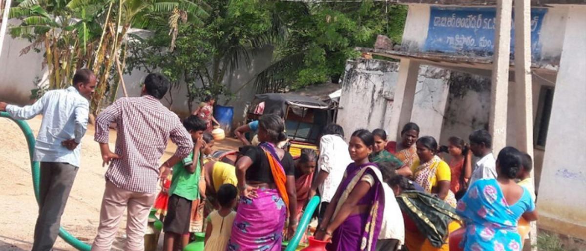 Pharma company providing potable water to Kistaram village