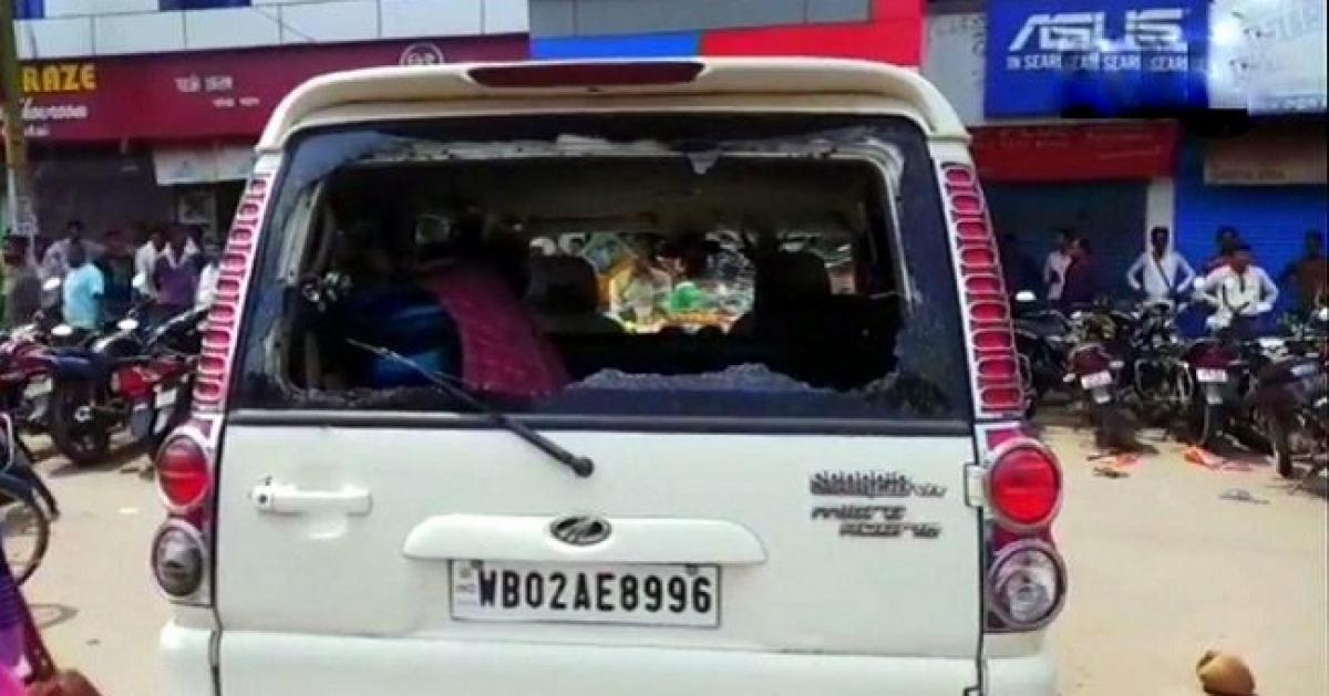 Bengal BJP chief Dilip Ghosh's car attacked; 'handiwork' of TMC, claims party