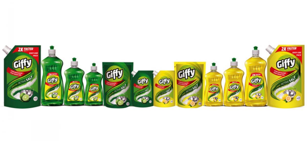 Wipro Consumer Care Launches Giffy Dishwash Gel in Maharashtra