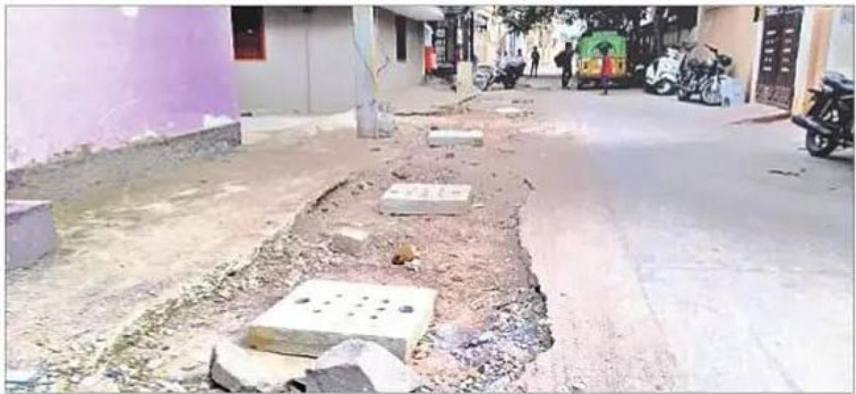 Unfinished road works pose threat to commuters during rainy season
