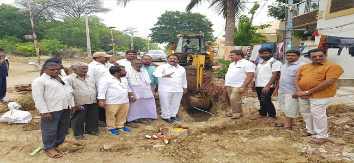 Ragam Nagender inspects UGD work
