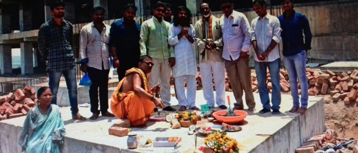 Foundation for Ganapathi temple laid on Yadadri hillock