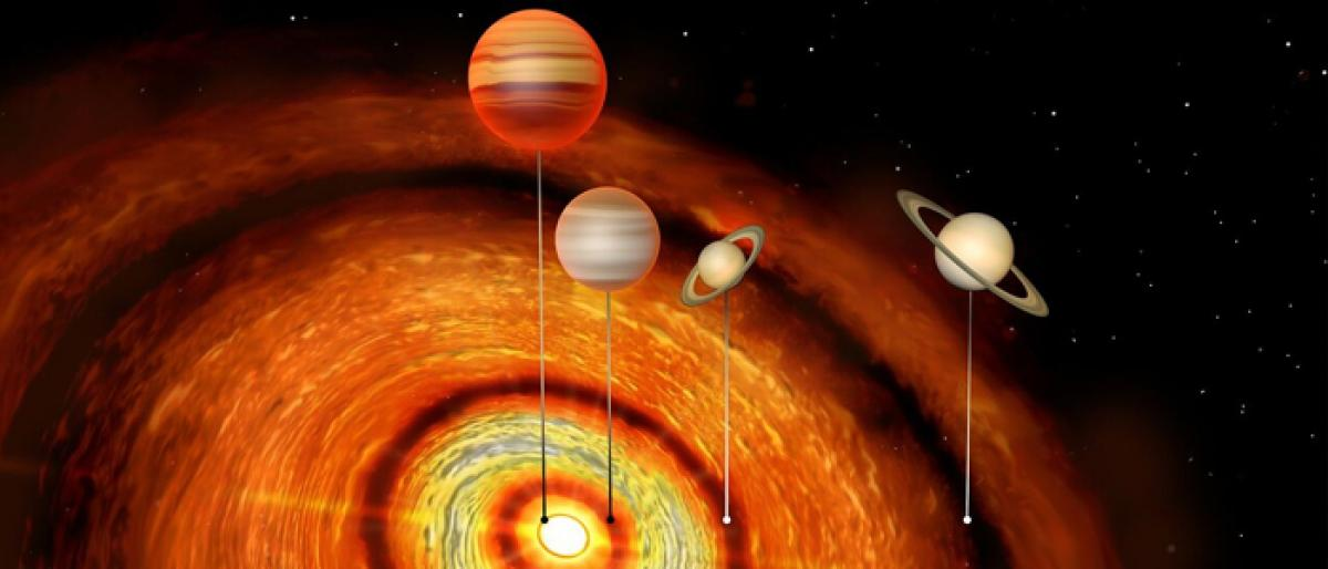 Four giant planets around young star discovered
