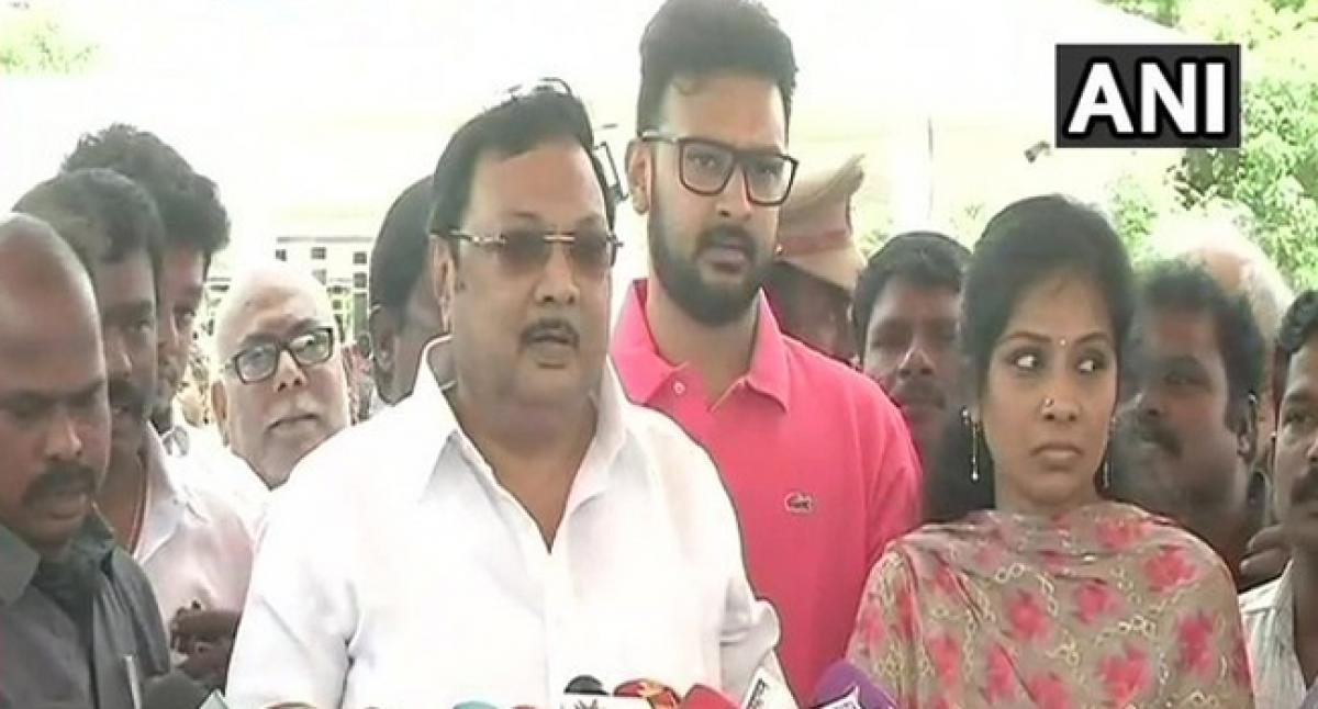 Fathers relatives on my side: Karunanidhis son Alagiri