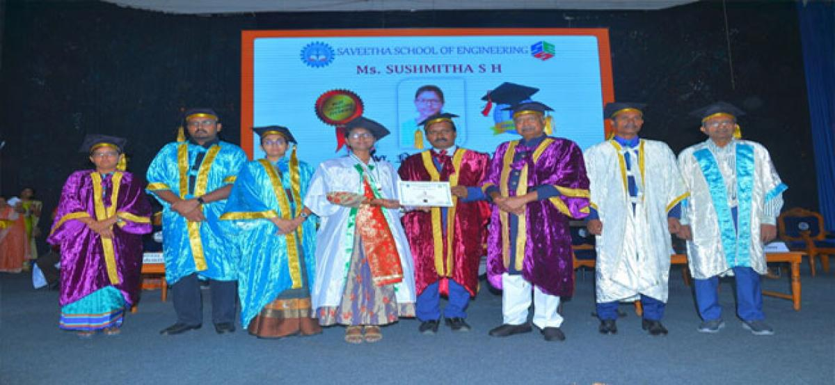 Convocation held at Saveetha Institute of Medical and Technical Sciences