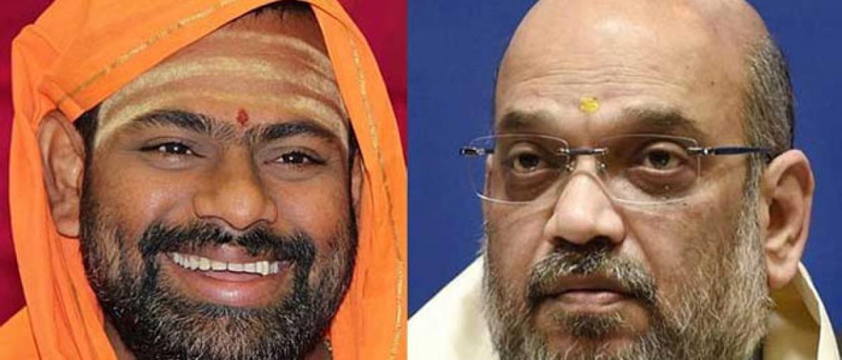 Swami Paripoornananda to meet Amit Shah today, may join BJP