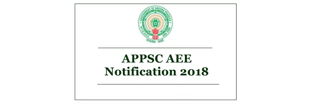 APPSC AEE 2018 notification released