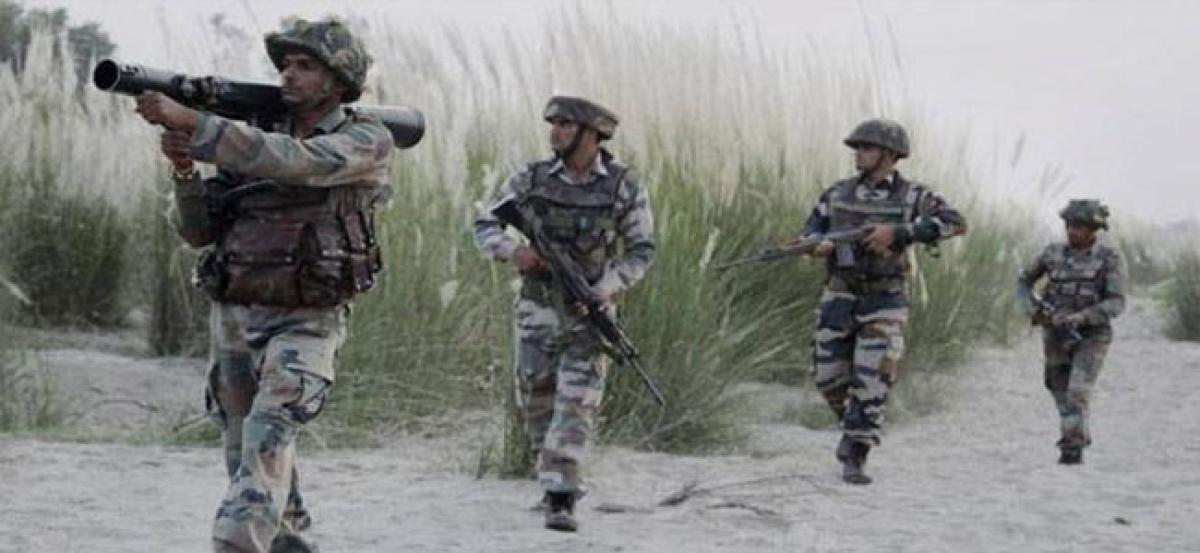 Pak troops fire at LoC posts in Poonch; Army Captain injured