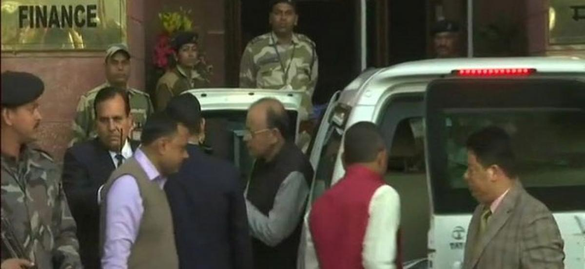 Jaitley all set to present the Budget in Parliament at 11 am