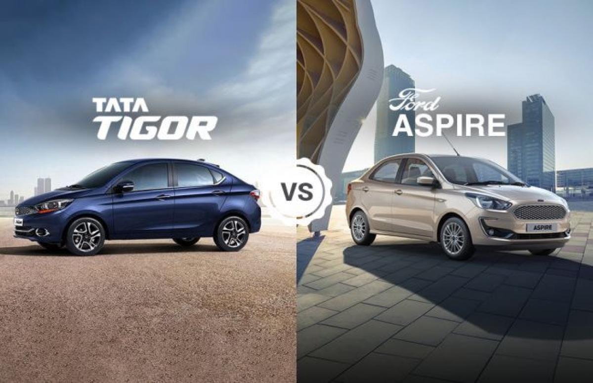 Tata Tigor vs Ford Figo Aspire: Variants Comparison