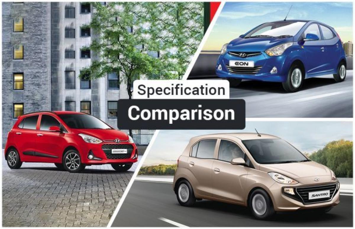 Hyundai Santro vs Eon vs Grand i10: Spec Comparison