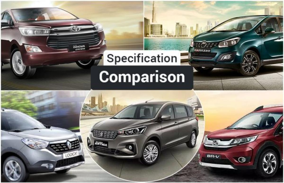 Maruti Ertiga 2018 Vs Mahindra Marazzo Vs Toyota Innova Crysta And Others: Spec Comparison