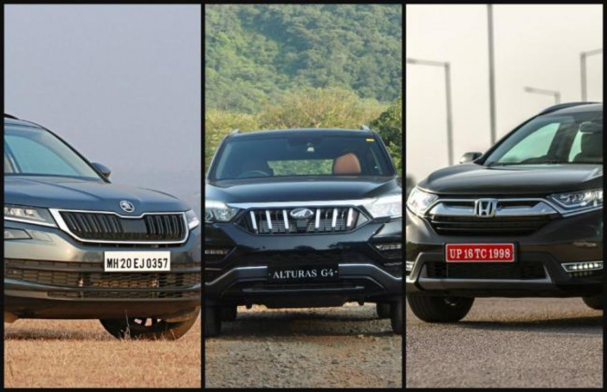 Spec Comparison: Mahindra Alturas G4 vs Skoda Kodiaq vs Honda CR-V