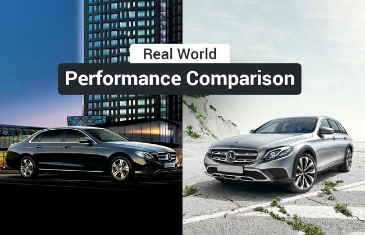 E-Class 220 d Vs E-Class All-Terrain 220 d: Real World Performance Comparison