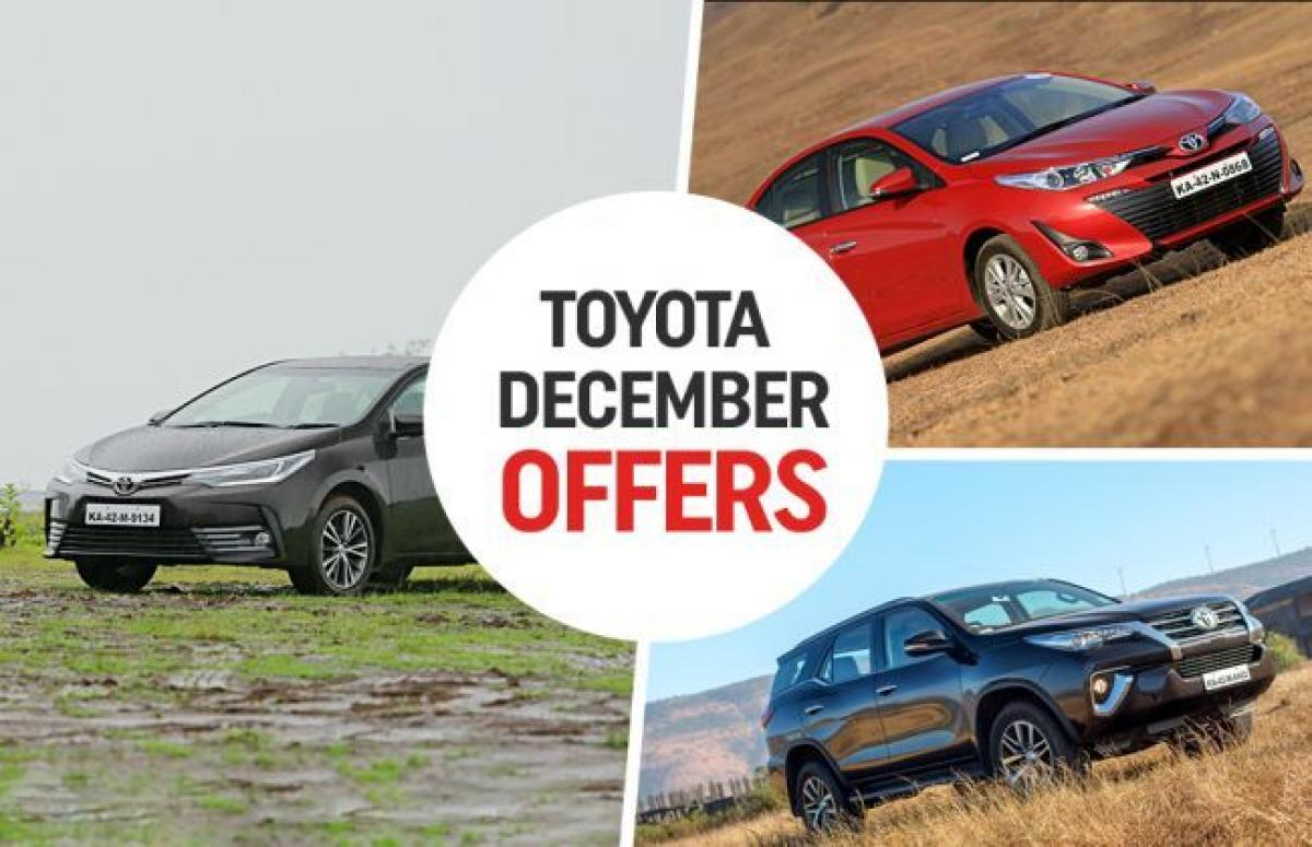 Toyota December Offers: Savings On Yaris, Innova, Fortuner And Others