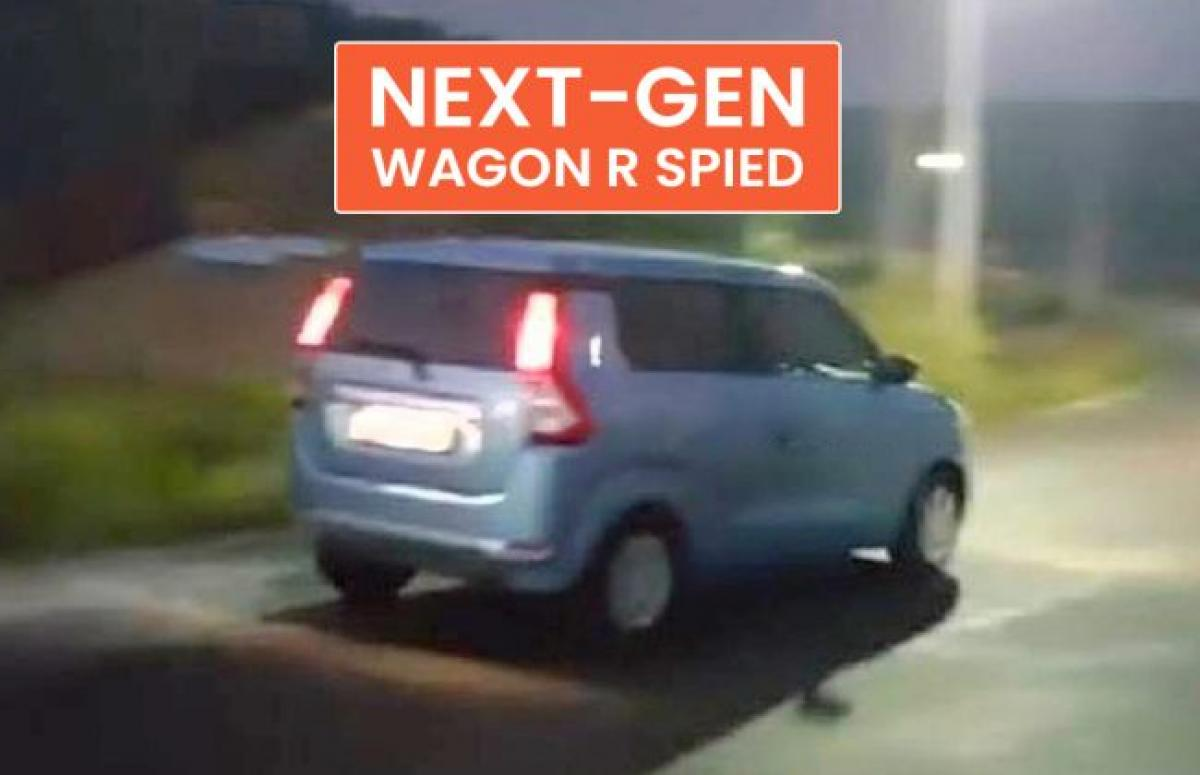 New Maruti WagonR Launch Soon, Spotted Undisguised