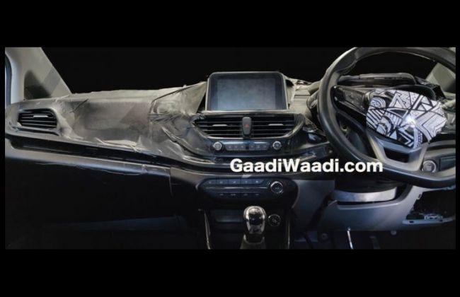 Tata 45X Interior Spied; Gets Harrier-inspired Semi-digital Instrument Cluster