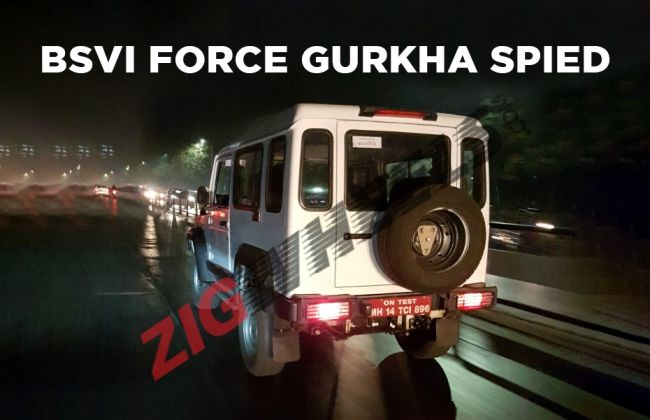 Force Gurkha Spied With BSVI Engine