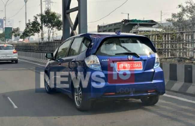 Honda Jazz EV Spotted Testing On Indian Roads